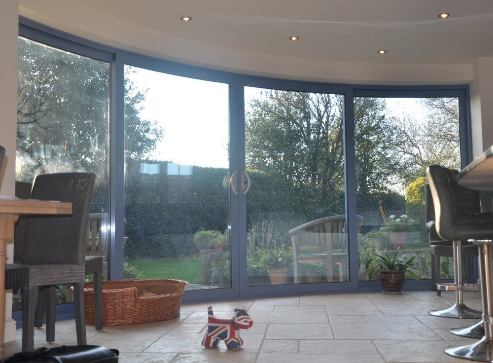 curved patio door