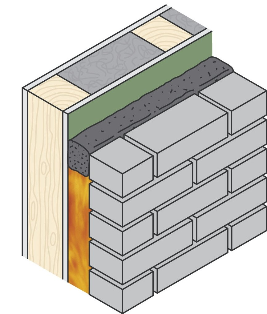 Cavity Fire Barrier on a Roll Expanded in Fire Drawing