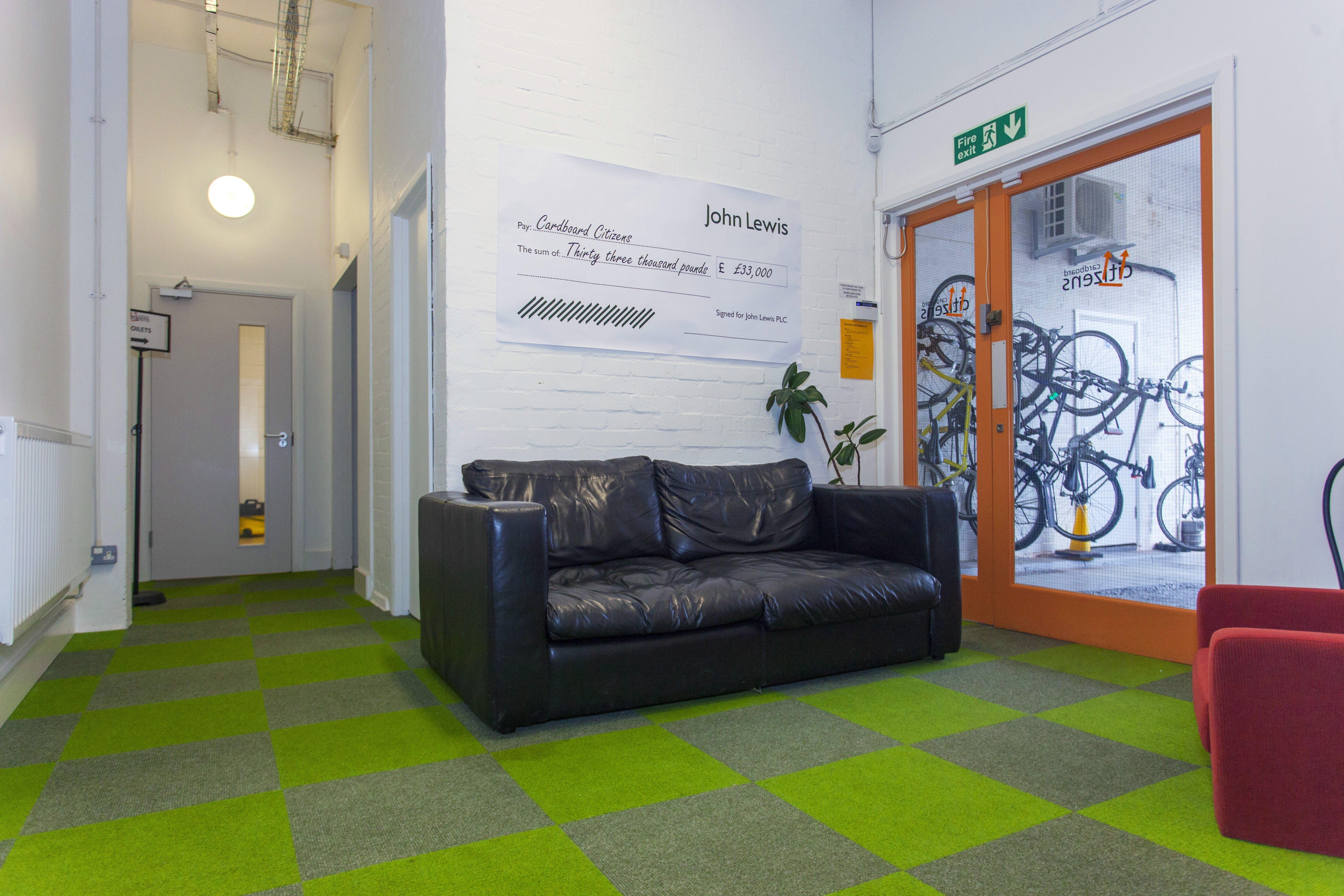 Broadrib Carpet Tiles at Cardboard Citizens