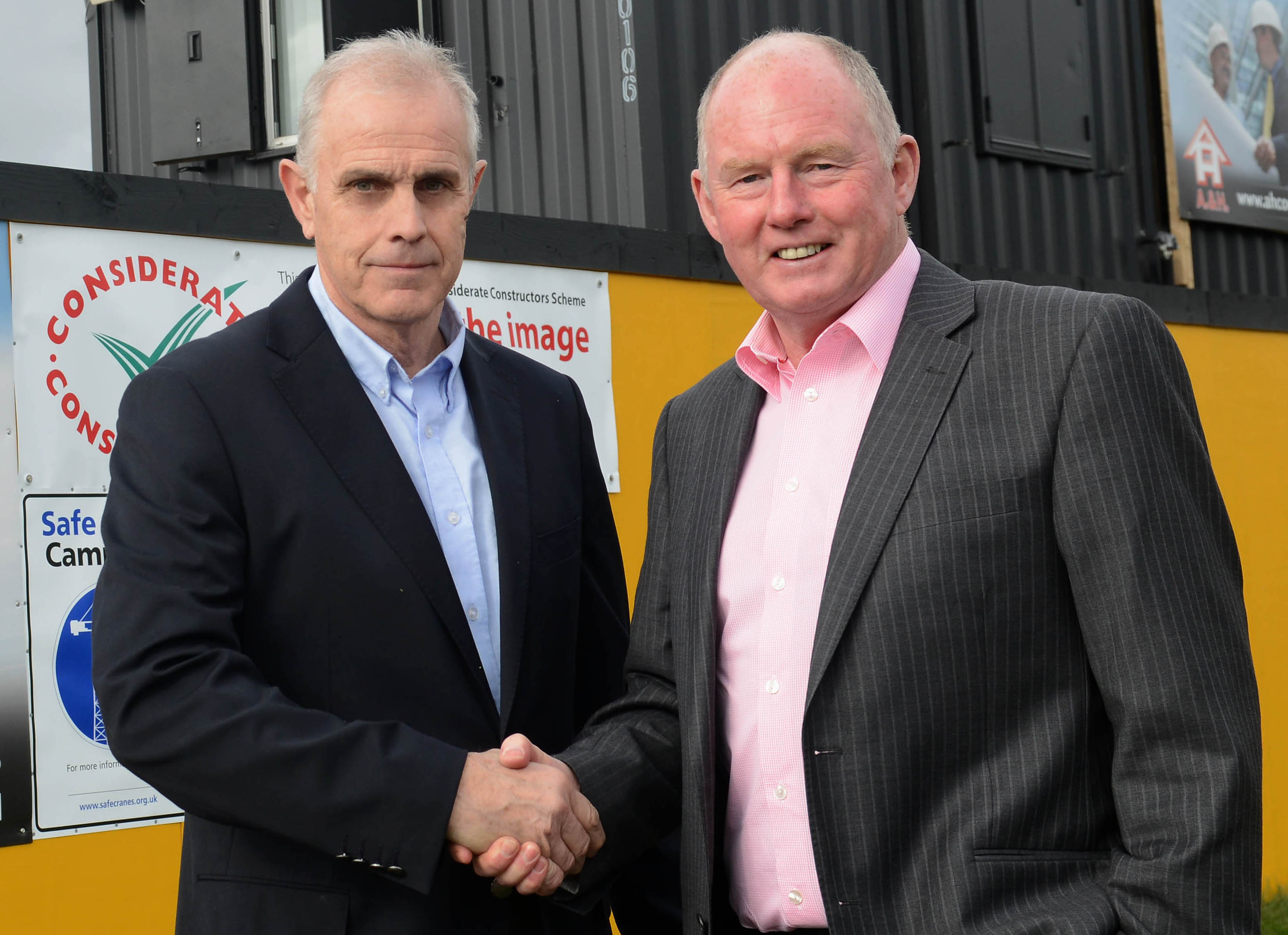 Spatial Structures Terry Young with Steve Morgan, chairman of wolves