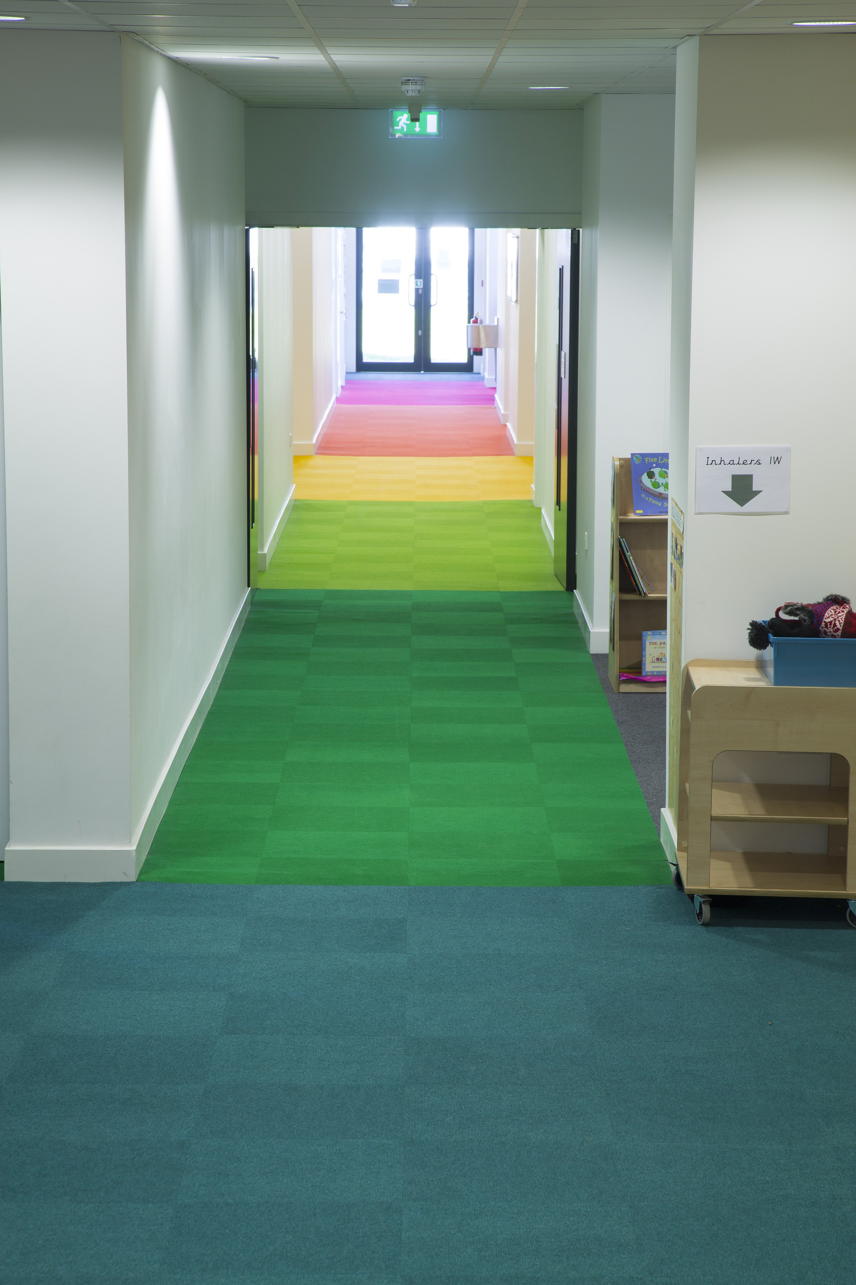 Creative carpet design reflects musical aspirations at the for Creative interior design review