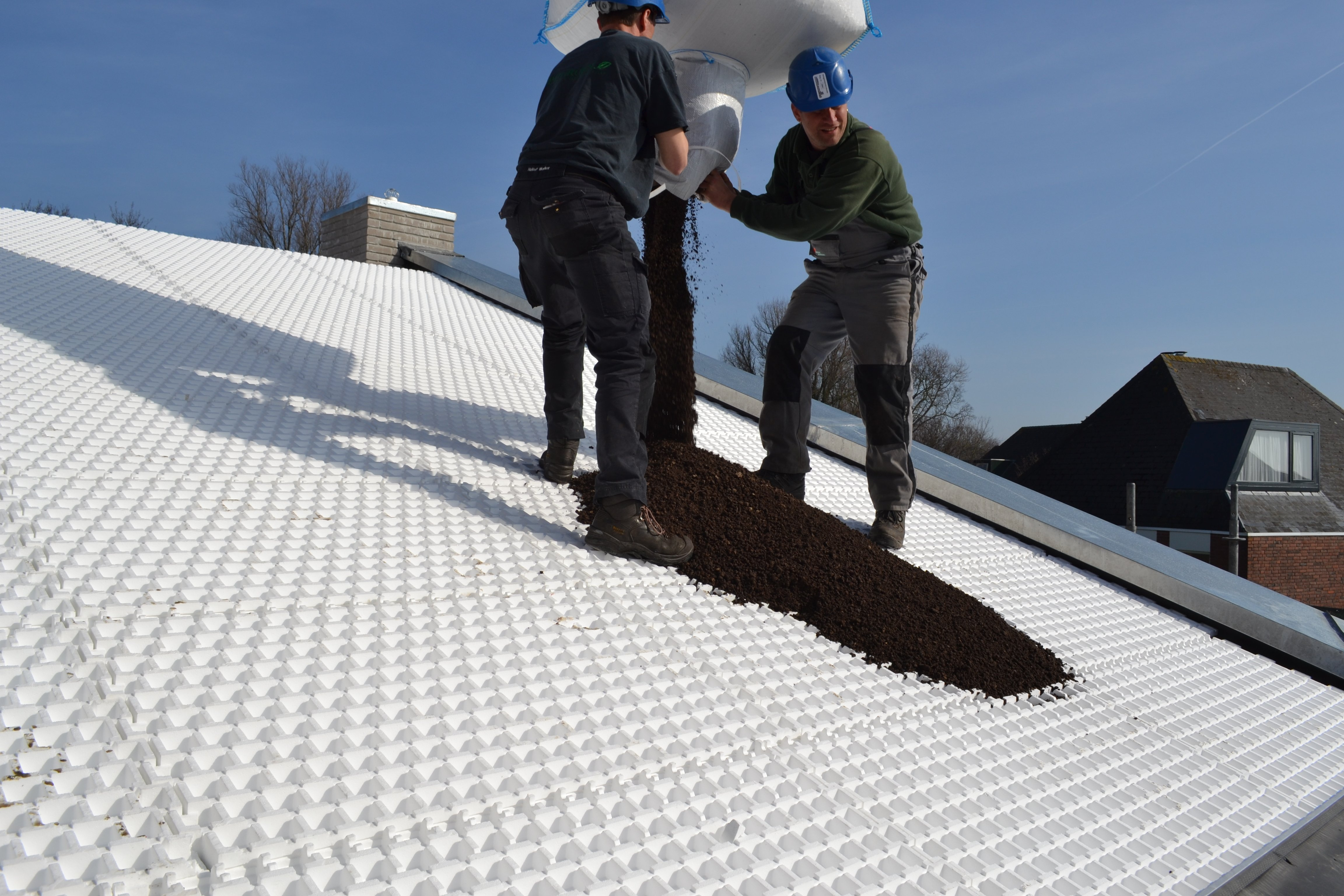 New Optigreen anti-slip system for pitched green roofs