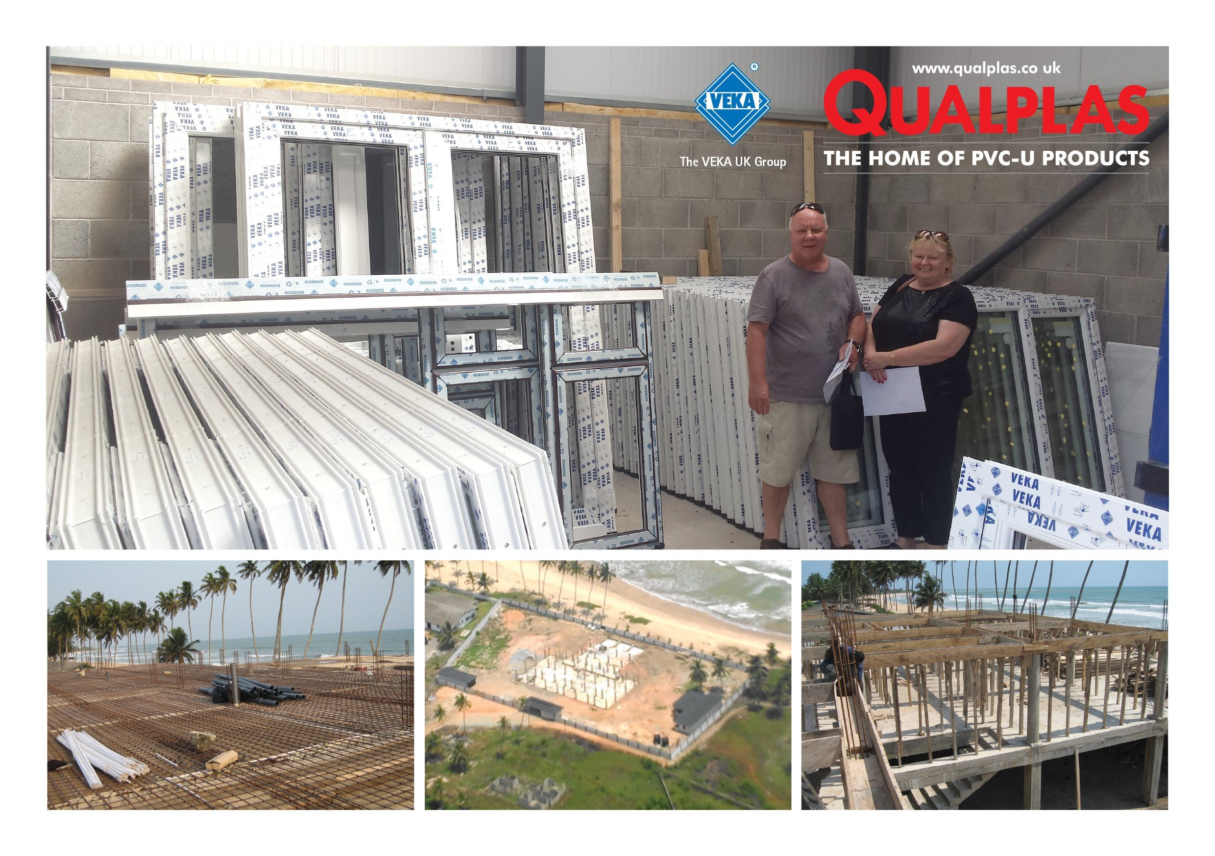 Qualplas manufactures VEKA door and window order for challenging West African beachfront development