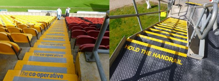 New surface gets to grips with slips on external steps