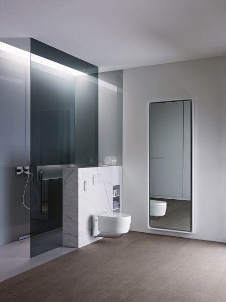 Successful combination of aesthetics and technology wins the Geberit AquaClean Mera shower toilet a Red Dot Design Award 2015