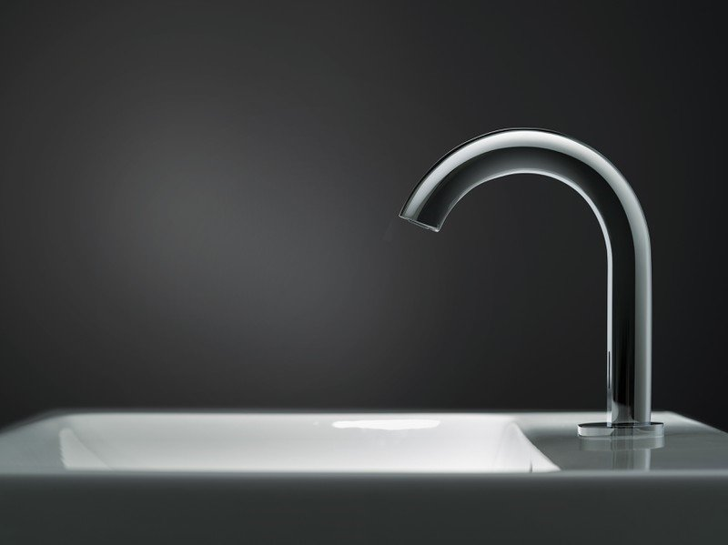 Electronic washbasin taps