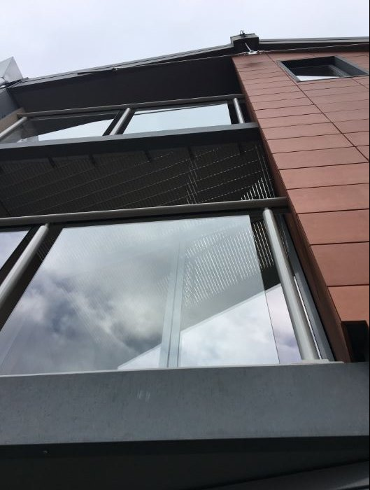 Neaco's glass balustrade and aluminium grille systems