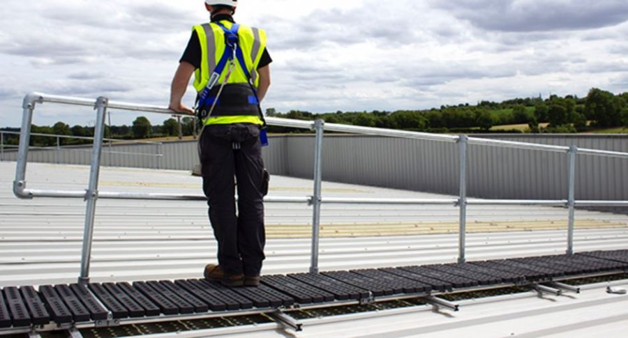 New Rootop Walkway with Guardrail