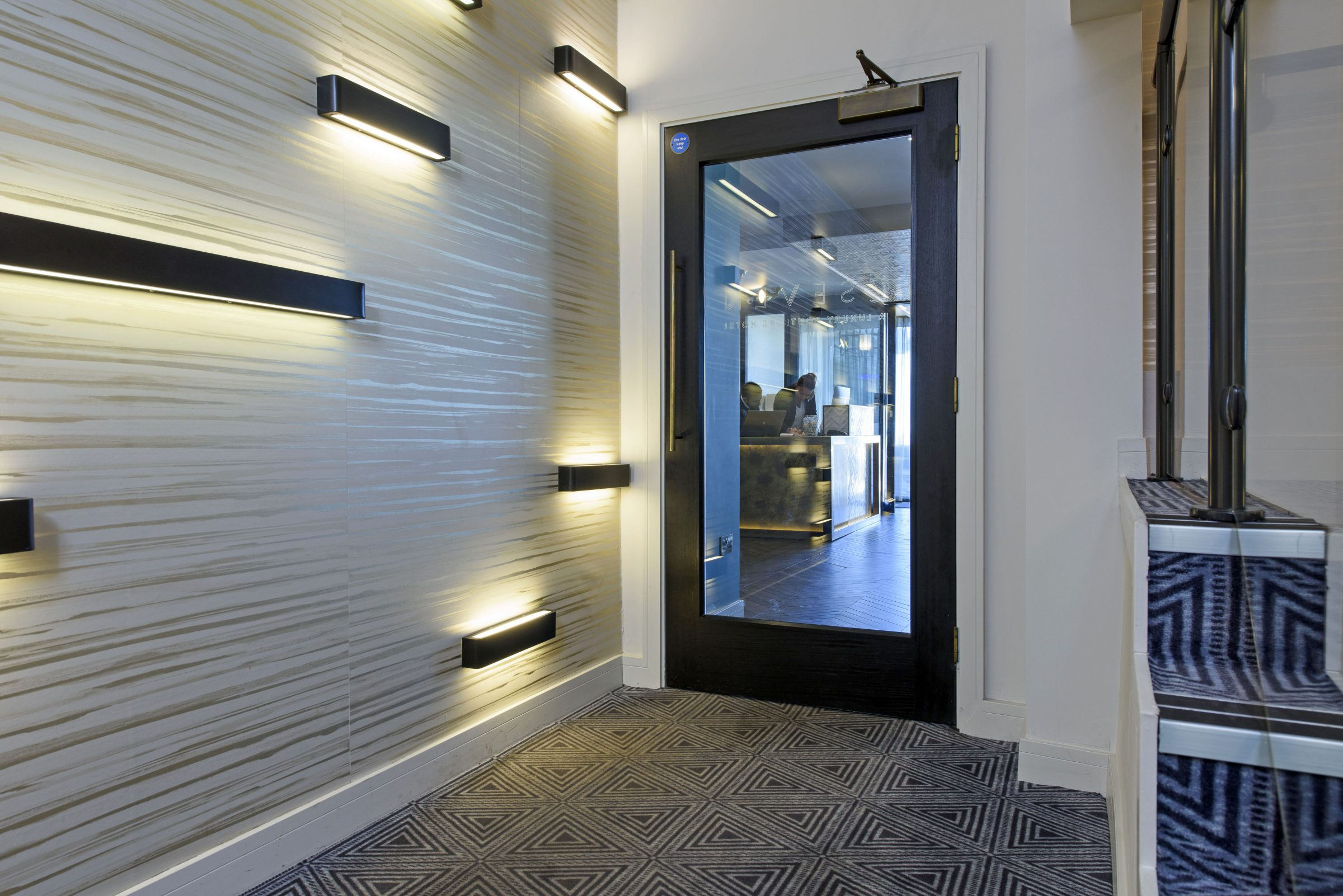 Bespoke Herringbone doors for stylish new seafront hotel in Southend