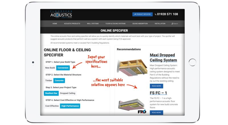 Acoustic specification made easy by Floorscan