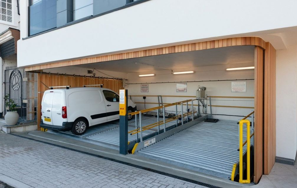 Elevating door aesthetics for car lift garages
