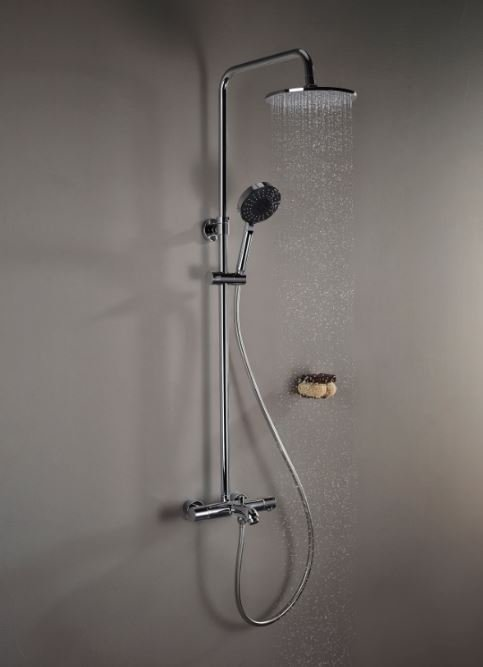 VitrA Aquaheat thermostatic shower columns start at £390.