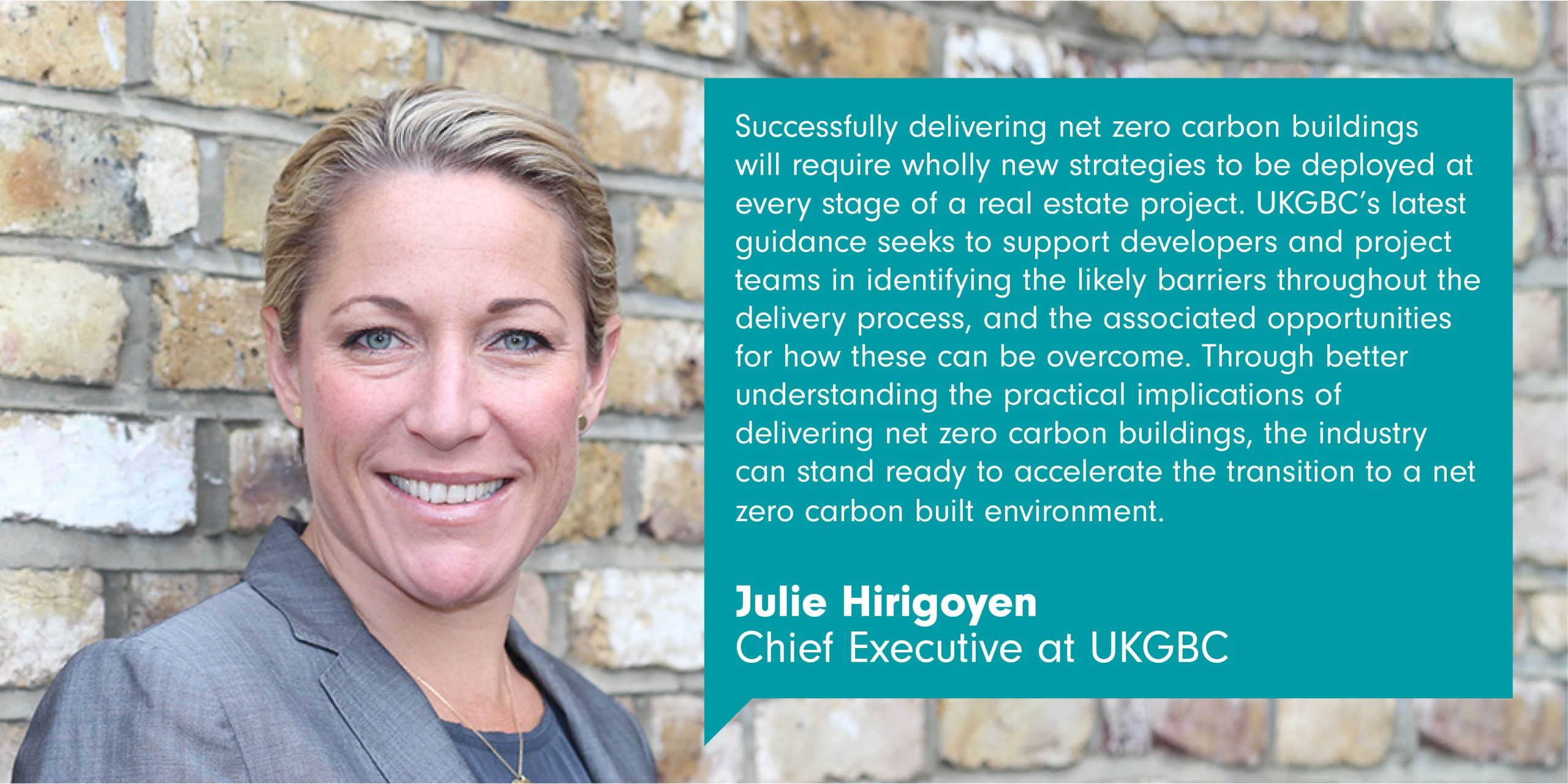 UKGBC publishes guidance to catalyse the delivery of net zero carbon buildings 1