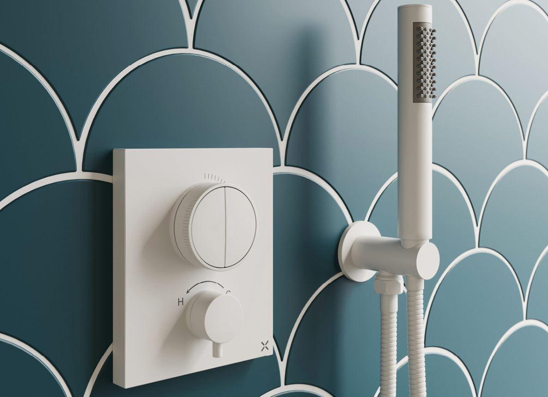Introduce captivating colour into the bathroom