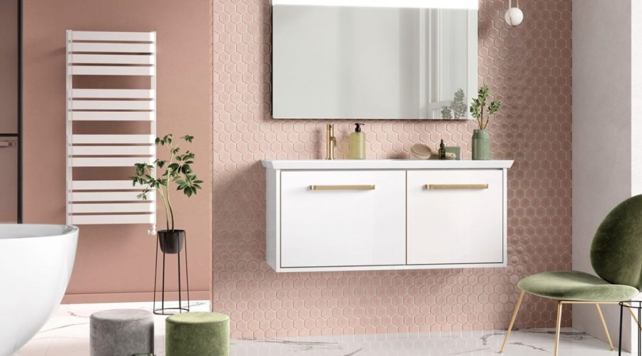 Introduce captivating colour into the bathroom