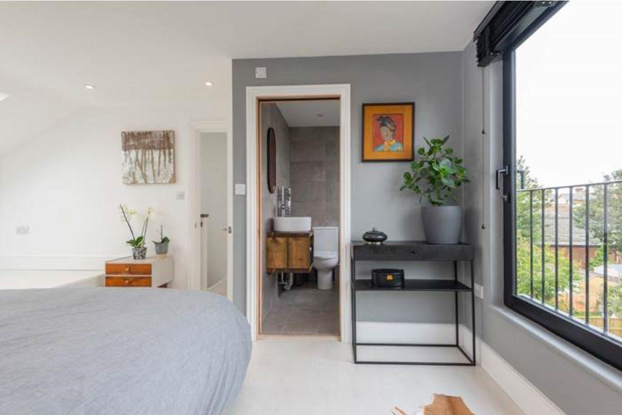 The loft extension features an en suite