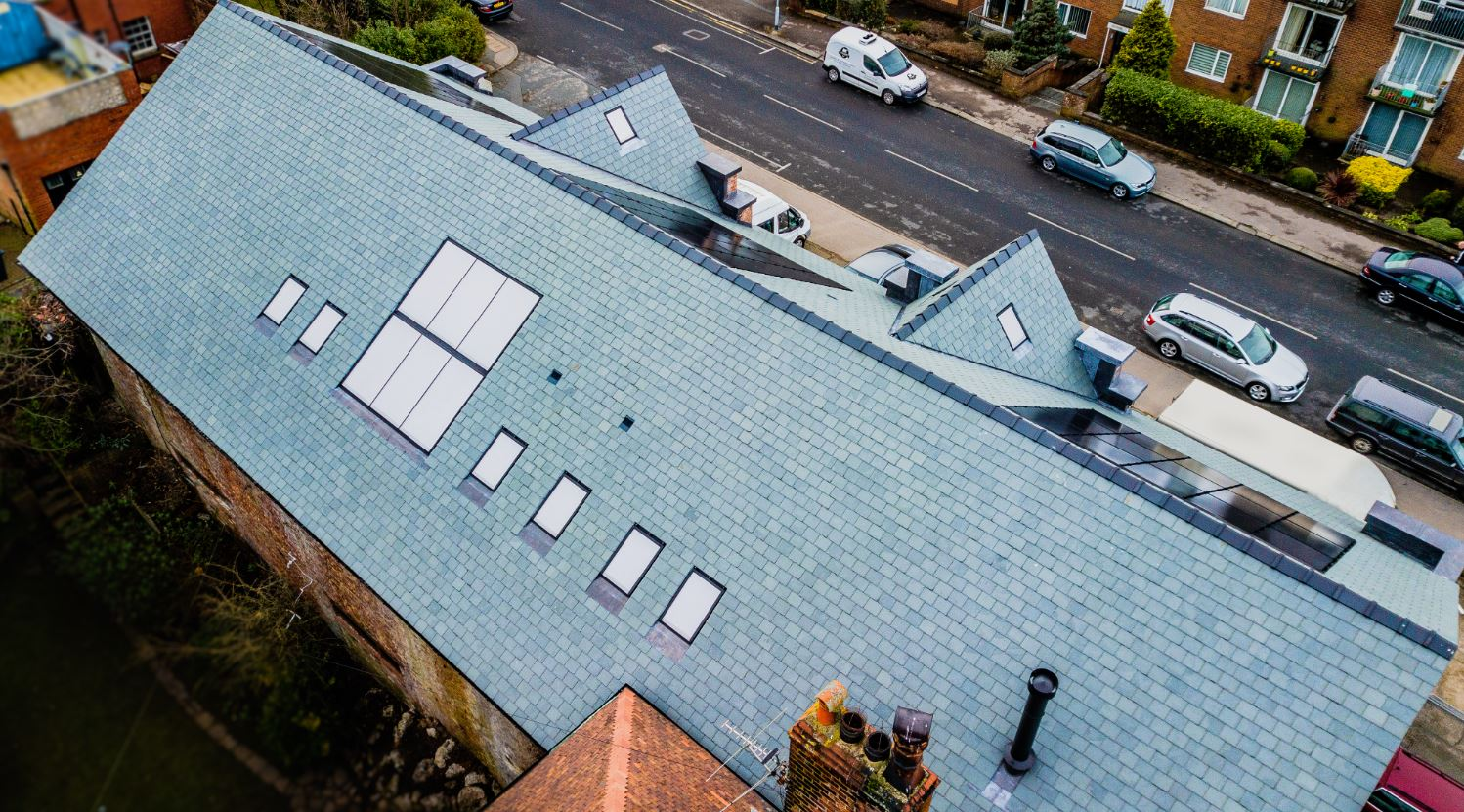 Stella Rooflight helps turn old car showroom into new show home