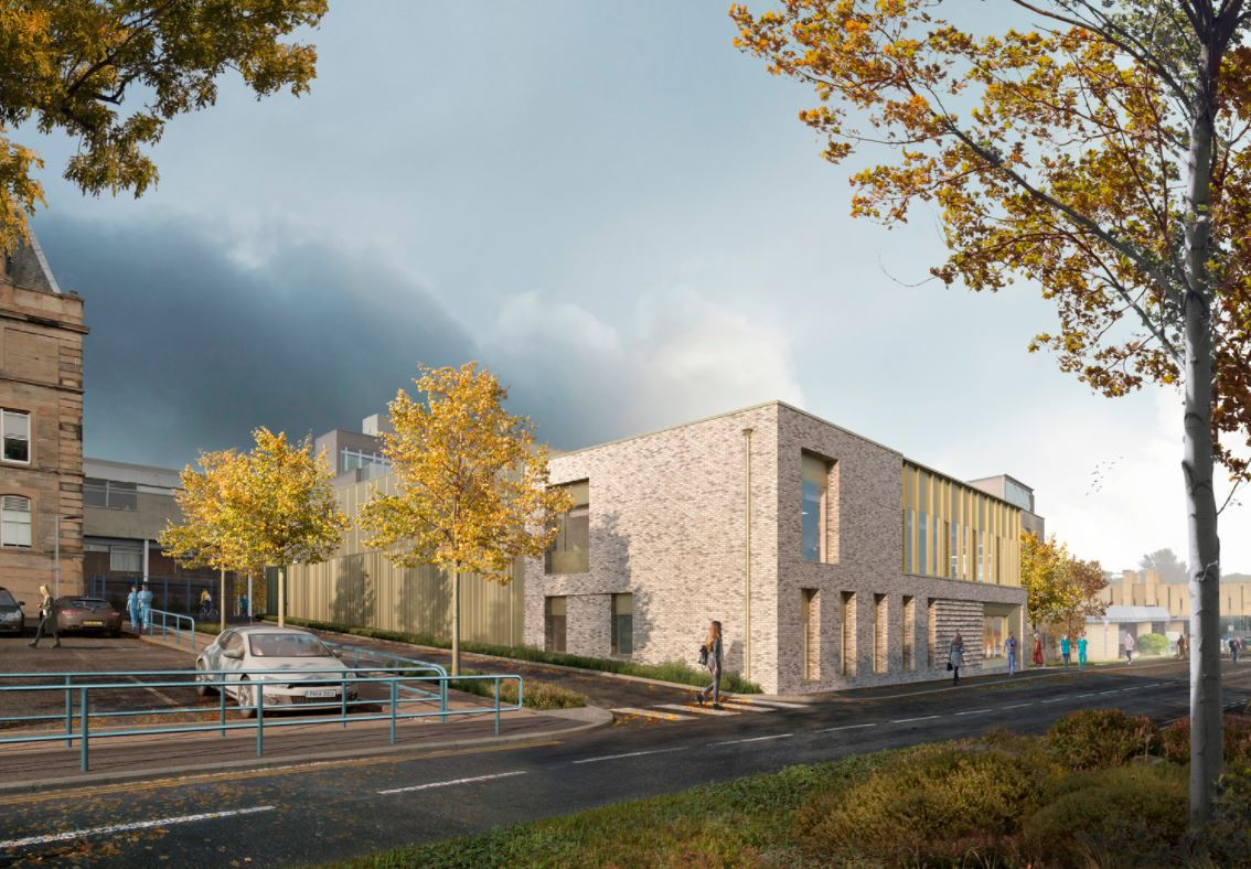 The new linear accelerator (LINAC) treatment facility at NHS Lothian's Western General Hospital (WGH)